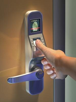 Fingerprint used as an identification method on a door lock. Dig