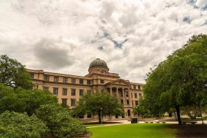 Large building at Texas A&M University