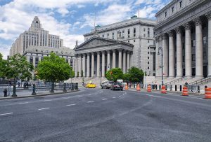 State and federal court buildings in New York City